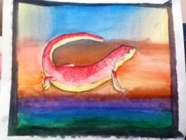 Red Newt by TheDragonInTheCenter
