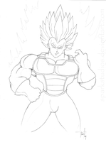 Super Vegeta by SparkStudios