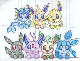 Eevee-lutions by debsie911
