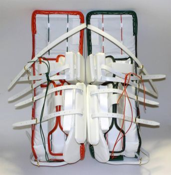 Sock style paw goalie pads from the back by beccaraptor