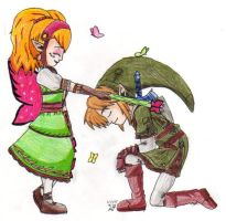 I knight you, Sir Link... by Nintendo-Nut1