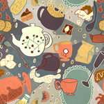 Tea Pattern by stephillo
