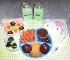 bento on green gingham by LaFoi