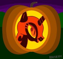 Nightmare Moon Jack-O'-Lantern by Roger334