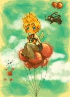 ::KH:: Roxas:Busted Balloons by ayexist