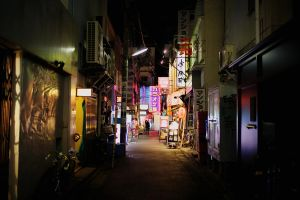 Lights of Shimo-Kitazawa by maltedhens