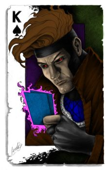 Gambit Colored by pixelatedxdeath