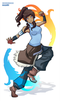 The Legend of Korra by Mayuiki