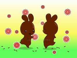 Chocolate Bunnies by Nashiil