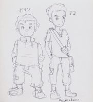 kid mako and bolin by rockinrobin
