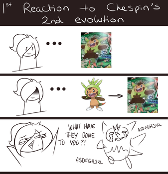 My First Reaction to Chespin's Second Evolution! by GameMaster15