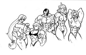 5 girls lots of muscle by ayanamifan