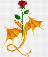 Rose and dragon pattern by Santian69