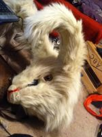 March Hare/White Rabbit head by MonstrositiesNZ