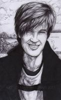 First drawing  of Pewdiepie / Felix Kjellberg by ManishaChan
