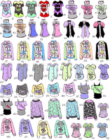 -CLOSED- Pastel goth shirts by Guppie-Adopts