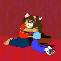 Katie and I Cuddle by KBAFourthtime