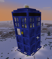 Minecraft TARDIS by thenextdoctor42