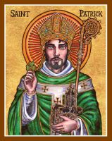 St. Patrick Icon by Theophilia