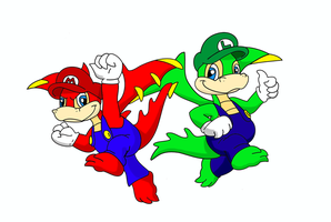 Super Scorchio Bros. by KojinkaLuigiGodzilla