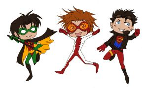 Young Justice Stickers by Zorafish