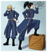 FMA: Genderbent Colonel and Lieutenant by Nobody-alchemist