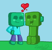 Minecraft Friends by Zimmby12