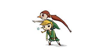 Link and Medli by Aeroflyte