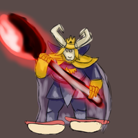 asgore with hot dogs for feet by waluigi-vapes