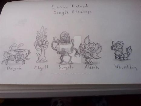 Cosmo Island's Single Element Monsters by LukeyWhoLikesSanic