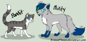Request: Minty and Bandit by BreezePleeze