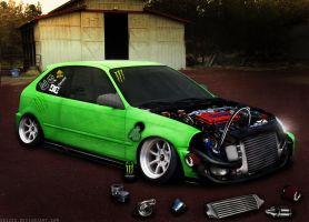 Zombie Civic by Sk1zzo