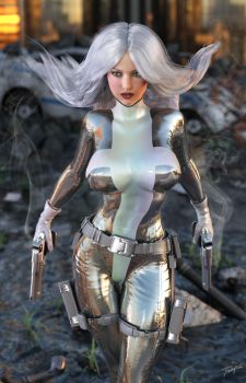 Silver Sable Iray by tiangtam