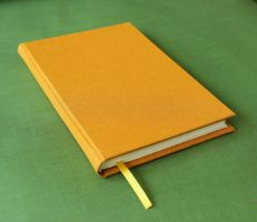Handmade Bound Journal in Orange by GatzBcn