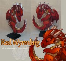 Red Wyrmling by StrayaObscura