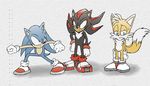 Sonic poses 1 by xJestino