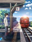 Waiting for the train by sagaler
