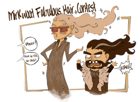 The Mirkwood Fabulous Hair Contest ::Sketch:: by MightyMilly