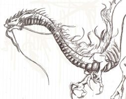 chinese or japanese dragon by chicknsmybaby