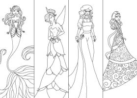 Animated Women Lineart 2 by JunebugHardee