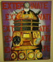 Dalek painting by JakeW
