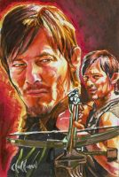 Daryl Dixon PSC card Chris Hoffman by choffman36