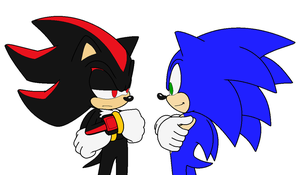 "The Hedgehog Sees His ""Shadow"" by Zero20-2"