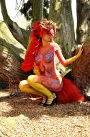 Pheonix tutu bodypaint Paintopia 2012 tree by Bodypaintingbycatdot