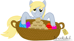 Derpy's Easter gift from Pinkie Pie :) by SyncedsArt