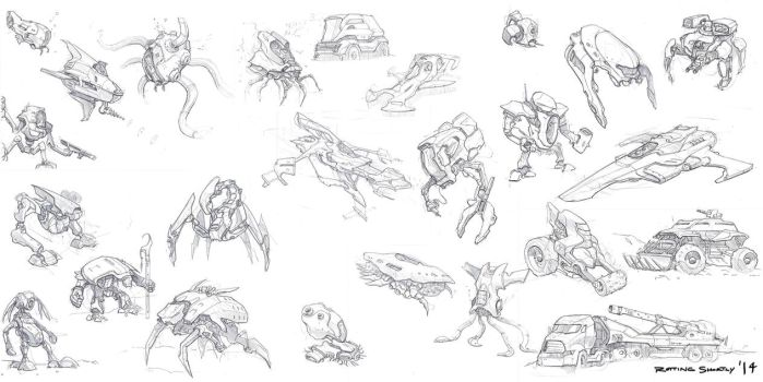 Sketch dump by RottingShortly