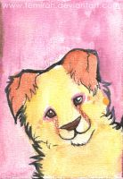 Feeling Pink .:ACEO:. by mokamutt