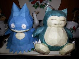 Snorlax and Munchlax Papercrafts by MaximilianK1
