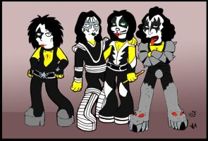KISSimpsons by saint-and-sinner