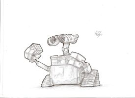 Wall-E - Cell Shade Style by Thrustwolf